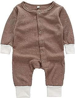 Sfuzwg Insieme del Vestito della Tuta Infantile del Pagliaccetto dei Vestiti del Neonato del Bambino