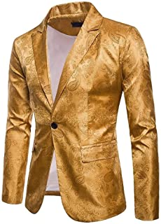 HaiDean Men's V Neck Slim Camouflage Blazer Men's Fit Modern Casual Suit Business Button Suits Stylish Wedding Prom Party ...