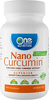 Nano Curcumin - Powerful Natural Anti-inflammatory, Antioxidant, and Pain Reliever (60 Veggie Caps)