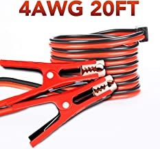TWING Jumper Cables 4 Gauge 20 Feet Booster Cable for Battery Emergency 4AWG 20Ft
