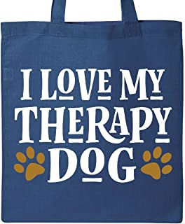 Inktastic - I Love My Therapy ドッグトートバッグ One Size ブルー 14-188336-65-1303-4671