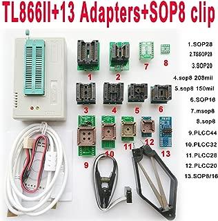 SETCTOP TL866II Plus usb programmer +13 adapter socket+SOP8 clip 1.8V nand flash 24 93 25 mcu Bios EPROM AVR eprom