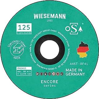 Säkerhetsskärare 125 x 1,0 mm för metall 5-pack I tillverkad i Tyskland I för vinkelbågar av WIESEMANN 1893 I för stål, ro...