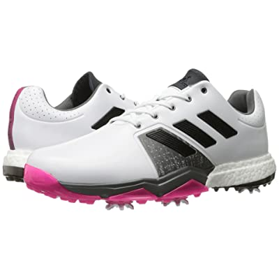 adidas Golf Adipower Boost 3 (Ftwr White/Core Black/Shock Pink) Men