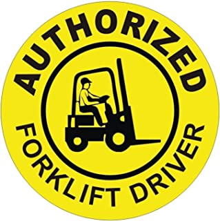 1 Pc Notable Unique Authorized Fork Lift Driver Window Sticker Laptop Luggage Wall Graphics Arc Flash Hard Hat Badge Windows Stick Decals Decor Vinyl Stickers Decal Patches Sign Size 2