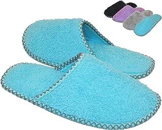 HomeTop Women's Cozy Plush Fleece Slip On Memory Foam House Slippers