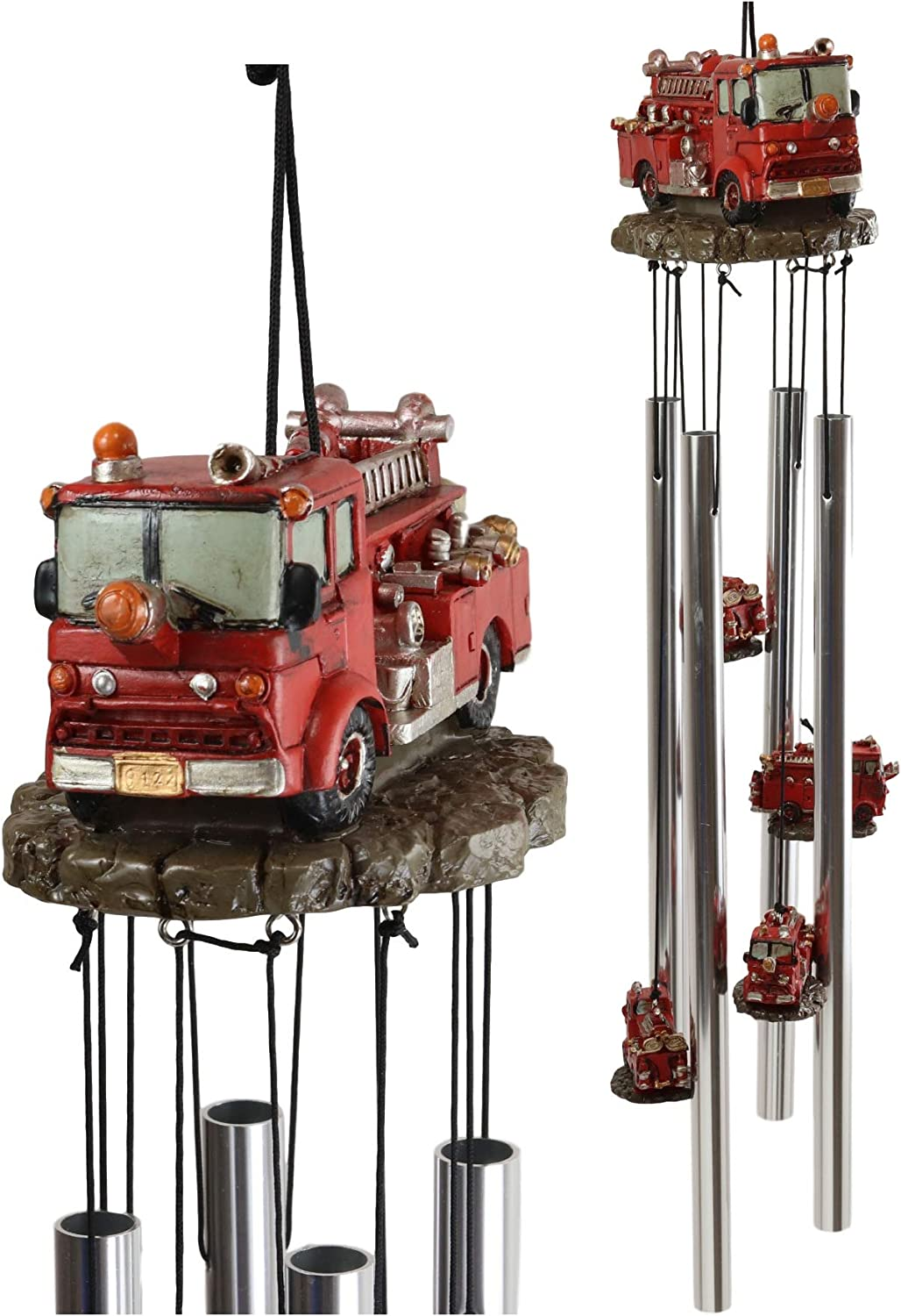 Ebros Gift Decorative Red Fire Model Truck Relax Resonant Engine 70% OFF Outlet Year-end gift