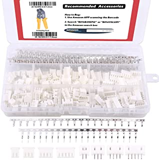 Hilitchi 560Pcs 2.54mm 2/3/4/5 Pin Housing and Male/Female Pin Head Connector Adapter Plug Set PerfectlyCompatible with JST-XHP