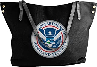 U.S. Department Of Homeland Security Women's Tote Bags Canvas Shoulder Bag Casual Handbags