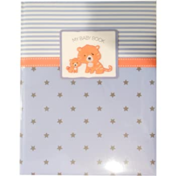 Boys Baby Memory Book Tiger Blue 5 Year Journal Keepsake