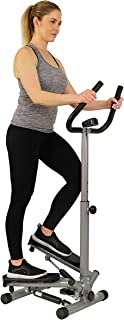 Sunny Health & Fitness NO. 059 Twist Stepper Step Machine with Handle Bar and LCD Monitor