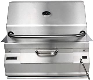 FireMagic Charcoal Legacy Built in Grill (Grill w 24 in. Smoker Hood)