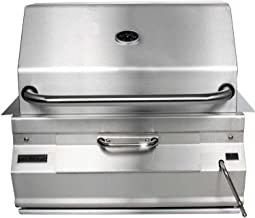 Fire Magic Charcoal Legacy Built in Grill (Grill w 24 in. Smoker Hood)