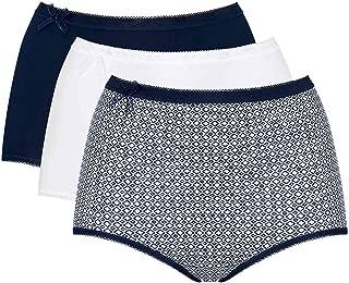 Sloggi Ladies Womens Women's Basic Maxi 3 Pack Plain Basic+ Premium Comfort Knickers