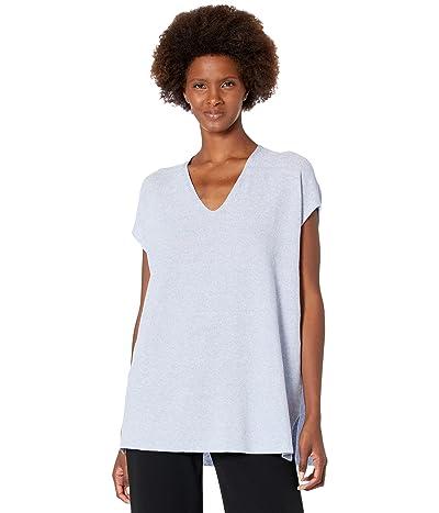 Eileen Fisher V-Neck Tunic in Organic Linen Cotton Twist