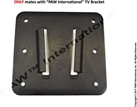 PAW International RV Bracket (Polymer) Single Wall Mount, Black