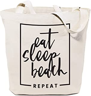 The Cotton & Canvas Co. Beach, Grocery, Farmers Market, Shopping and Travel Reusable Shoulder Tote and Handbag …