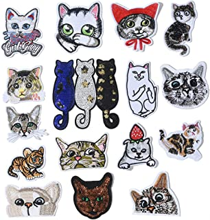 Check MEOWT Kitty Jumbo Embroidered Applique Patch Sew On Patch Sassy Cat Cat Patch Kitten Cool Cat