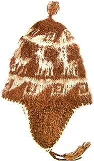 Gamboa Warm Alpaca Hat - Brown with White