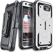 Galaxy J3 2017/J3 Prime/J3 Emerge/J3 Eclipse/Express Prime 2/Luna Pro/Amp Prime 2/Sol 2 Case,COVRWARE [Aegis] Built-in [Screen Protector] Heavy Duty Rugged Holster [Belt Clip][Kickstand] White