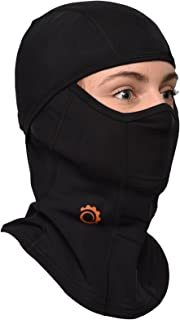 Balaclava by GearTOP, Best Full Face Mask, Premium Ski Mask and Neck Warmer for Motorcycle and Cycling, Black
