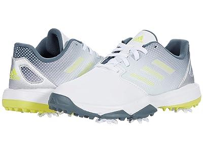 adidas Golf Jr. ZG21 (Little Kid/Big Kid) (White/Acid Yellow/Blue Oxide) Golf Shoes