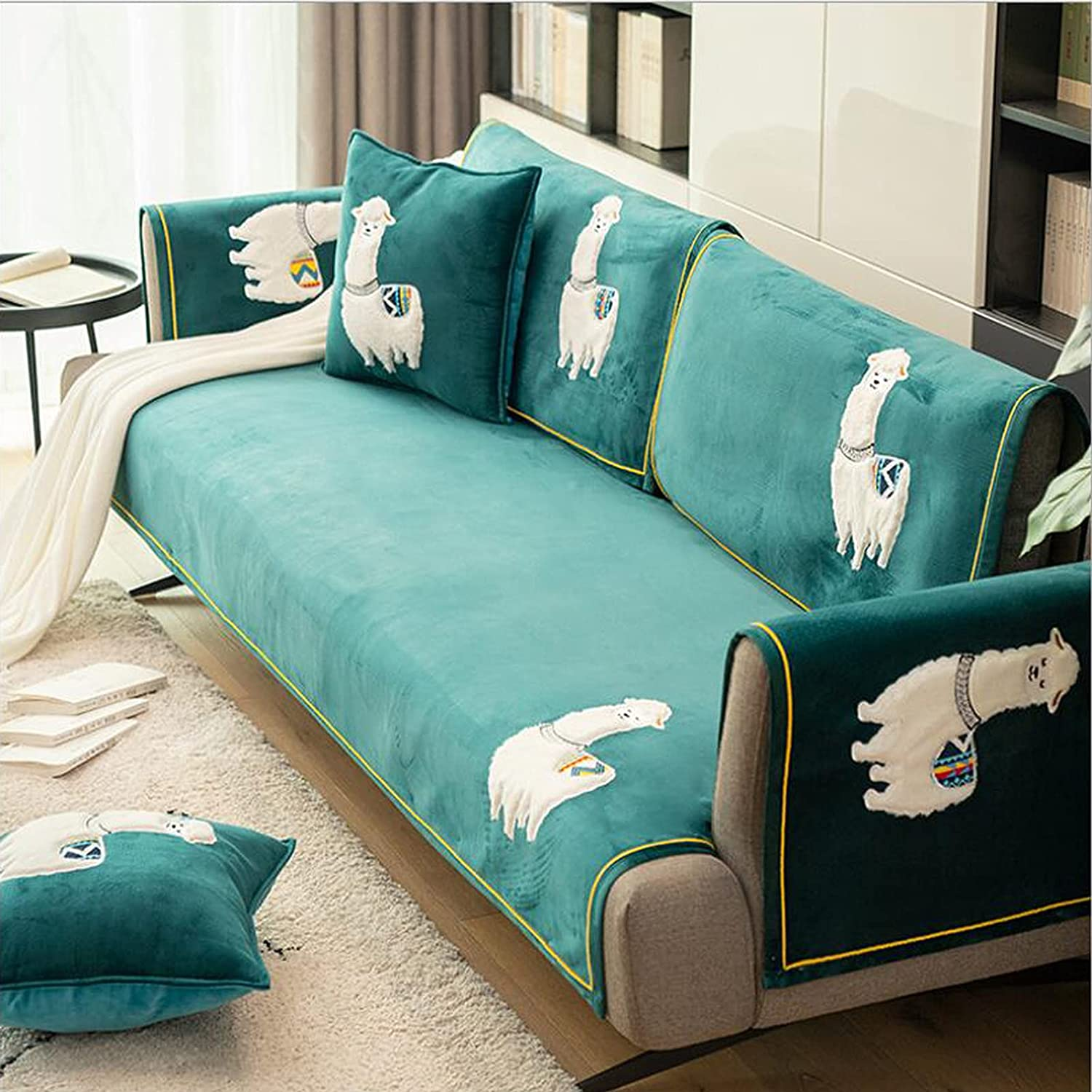 AESHW Family Version Waterproof Sofa Thick So Printed Fashion In a popularity Extra Set