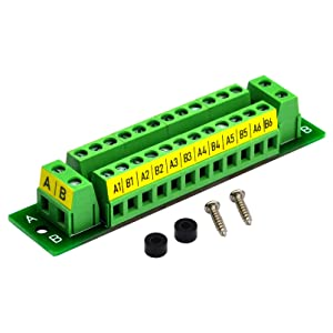 OONO 16 Amp 2x12 Position Terminal Block Distribution Module for AC DC