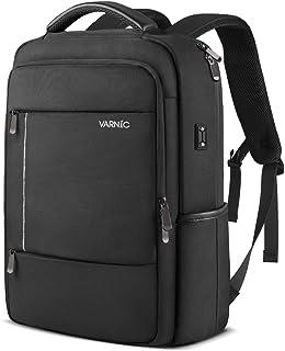 VARNIC ビジネスリュック バックパック 大容量 15.6インチノートPC収納 USBケーブル&イヤホン穴付き (ブラック) 45*31*16cm、15.6インチノートPC収納