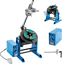 Mophorn 50KG Rotary Welding Positioner Turntable Table 110V 120W Angle 0 to 90º Welding Positioner Positioning Turntable 310mm Diameter Welder Positioner Turntable Machine 200mm Lathe Chuck