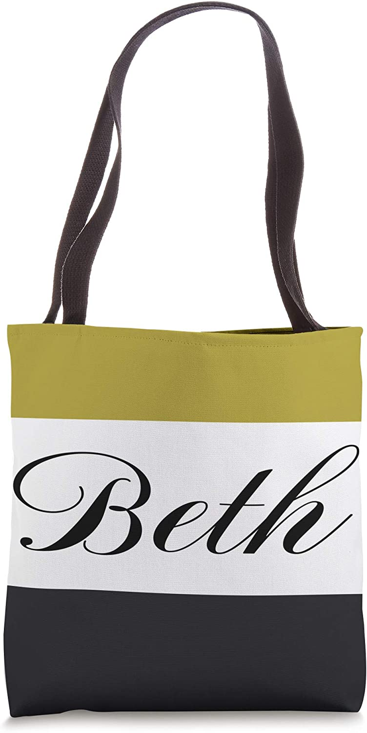 Personalized Name Beth Employee Bridal Birthday Gifts Tote Bag