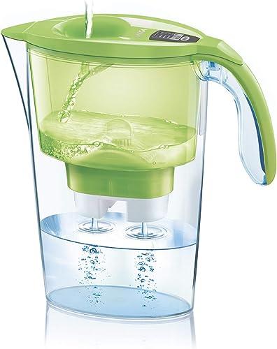 Jarra para filtrar el agua del grifo y mejorar su sabor- Laica STREAM LINE J31-AB color verde capacidad 2,3 litros, i...