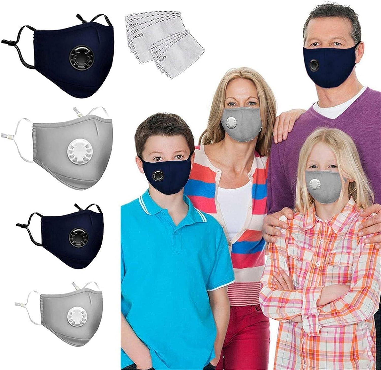 SUMSAYEI 2Pcs Bargain Kids+2Pcs Adult Wash Face_Mask shipfree Reusable Adjustable