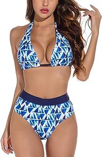 Tuopuda Costumi da Mare Donna Costume da Bagno Due Pezzi Push Up Imbottito Triangolo Brasiliana Bikini Halter Regolabile R...
