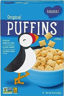 Barbara's Puffins Original Cereal, Non-GMO, Vegan, 10 Oz Box (Pack of 6)