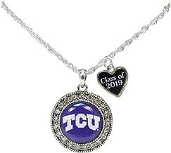Custom TCU Horned Frogs Choose Year Class of Graduation Alumni Necklace Jewelry Texas Christian