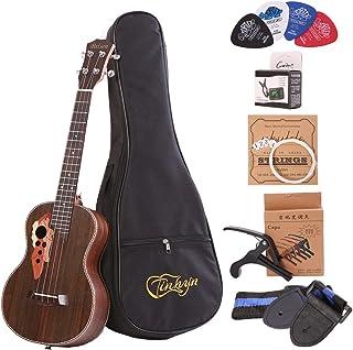 Best Tenor ukulele 26 inch Professional Rosewood Ukuleles send a full set of Ukelele accessories Review