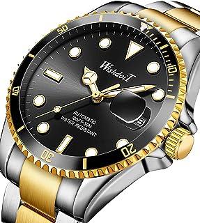 Watches for Men Automatic Mechanical Multifunctional Watch Stainless Steel Luminous Waterproof Self Winding Men's Watch Business Leisure Black Wrist Watch…