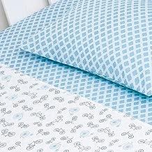 Jogo De Berço Compose 03 Peças, Papi Textil, Azul