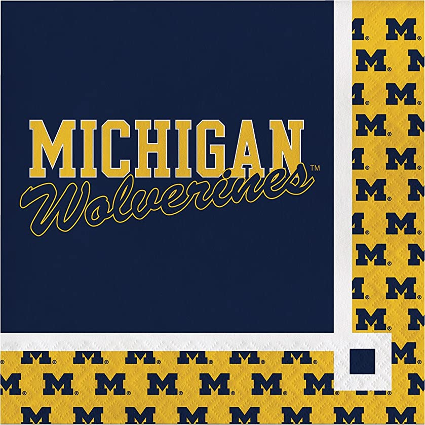Creative Converting Michigan Wolverines Beverage Napkins (20 Count)