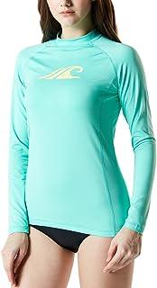 TSLA Women's UPF 50+Swim Shirt Rashguard Long Sleeve FSR...