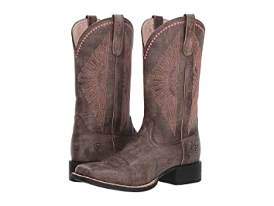 Ariat Round Up Rio (Naturally Distressed Brown) Cowboy Boots