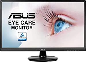 """Asus VA249HE 23.8"""" Full HD 1080P HDMI VGA Eye Care Monitor with 178° Wide Viewing Angle,Black"""