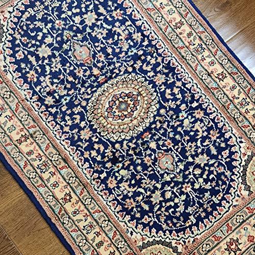Véritable tapis persan fait à la main, double nouage fait à la main, en laine et soie, tapis rare, unique et unique