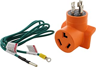 AC WORKS [ADL14301030] L14-30P 30A 4-Prong Generator Plug to 10-30R 3-Prong Dryer Outlet