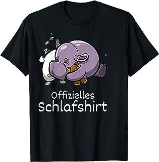 Offizielles Schlafshirt - Nilpferd Nachthemd Schlafanzug T-Shirt