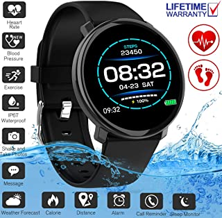 YUFENGGF Fitness Tracker,Activity Tracker Smart Watch with Heart Rate Monitor Touchscreen,Waterproof Bluetooth Smartwatch Sport Fitness Activity Tracker Compatible with Android Phone Kids Women Men