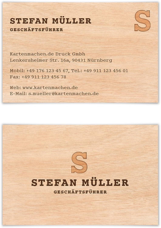 800 x Visitenkarten individuell Business Business Business Karten 300g qm 85 x 55 mm - Holzoptik B07CHT98QZ | Elegante Form  9f997b