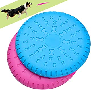 Legendog 2 Pcs Dog Flying Disc Rubber Catcher Toy 9 Inch Large Dog Toys