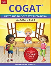 COGAT Test Prep Grade 3 Level 9: Gifted and Talented Test Preparation Book - Practice Test/Workbook for Children in Third ...